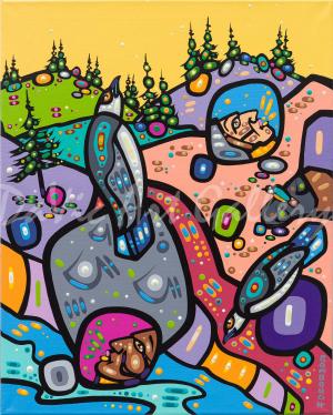 'Listening to the Land' by First Nations Dene artist John Rombough
