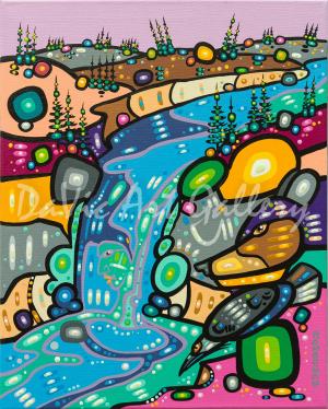'Water Ways' by First Nations Dene artist John Rombough