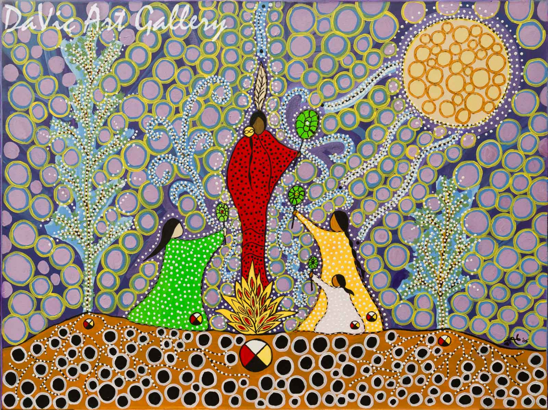 'Moon Ceremony Medicine' by First Nations Metis artist Leah Marie Dorion