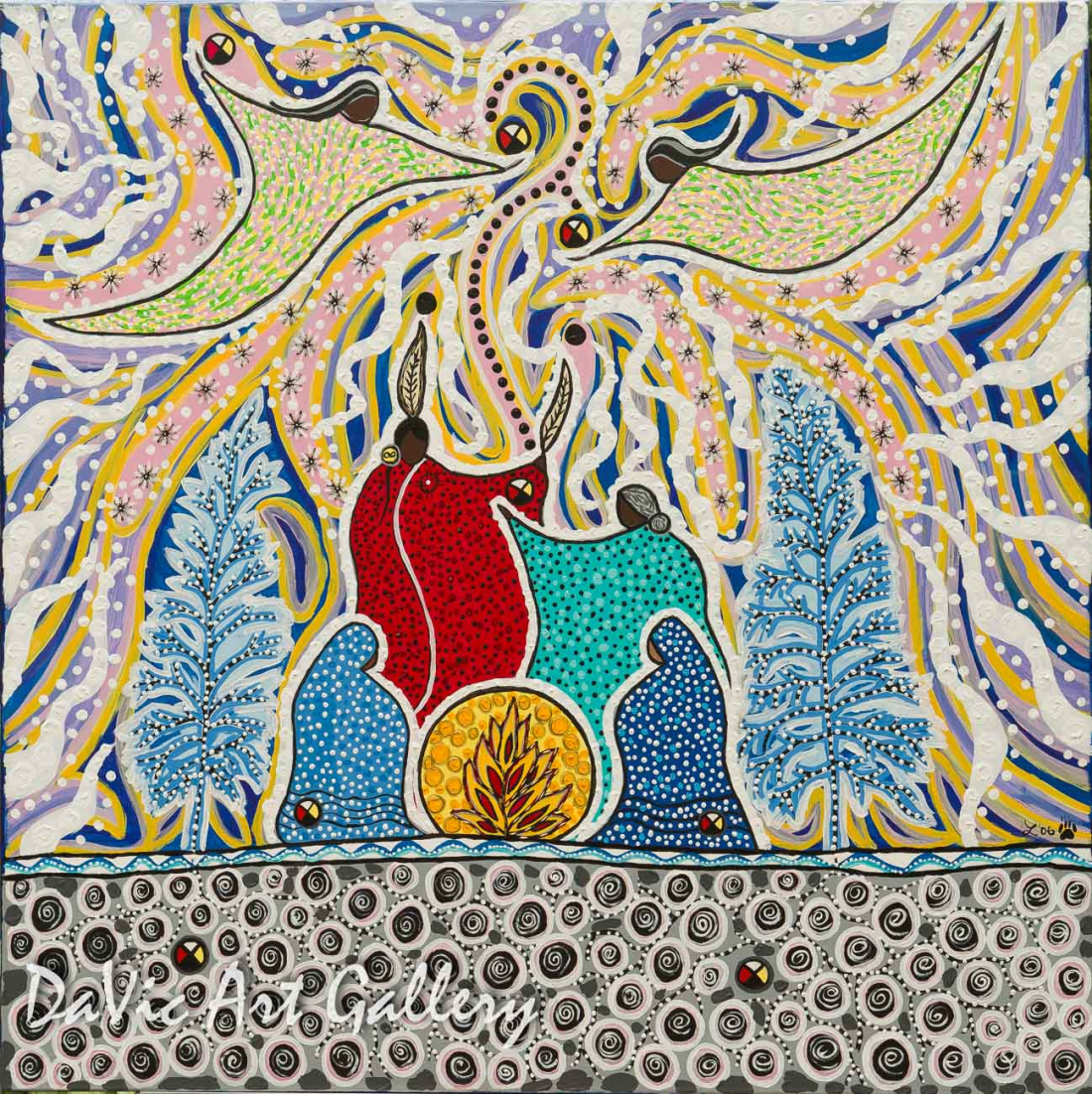 'Winter Spirits Medicine' by First Nations Metis artist Leah Marie Dorion