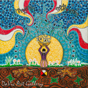 'Vision Quest' by First Nations Metis artist Leah Marie Dorion