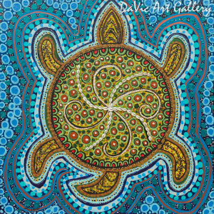 'Four Winds Turtle' by First Nations Metis artist Leah Marie Dorion