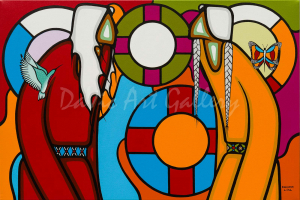 Giftedness by First Nations Ojibwe artist Leland Bell