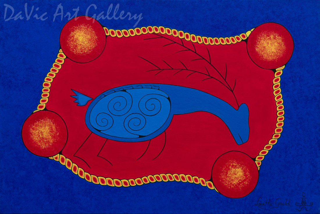 'Caribou' by First Nations Mi'kmaq artist Loretta Gould