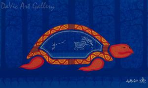'Old Turtle' by First Nations Mi'kmaq artist Loretta Gould