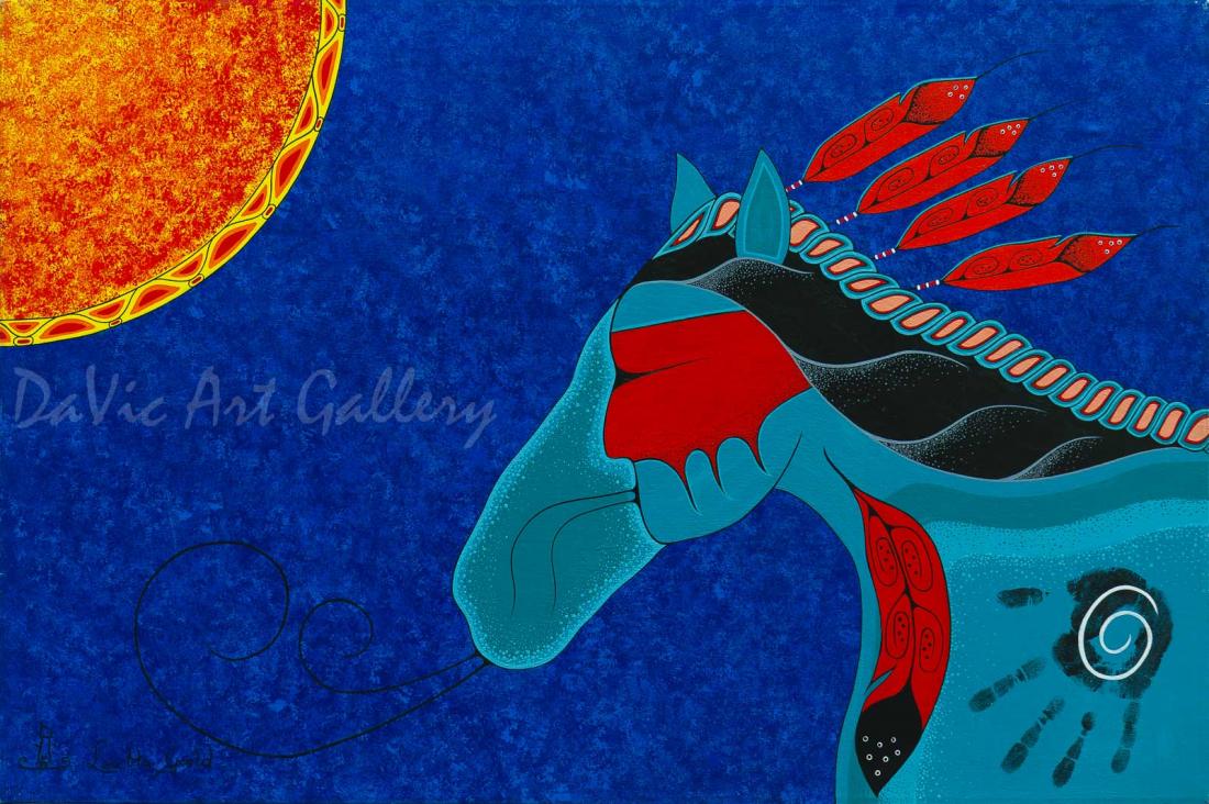 'Warrior Horse' by First Nations Mi'kmaq artist Loretta Gould