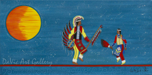 'Dancing in the Moonlight' by First Nations Mi'kmaq artist Loretta Gould