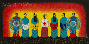 'Stand With Our Teachings' by First Nations Mi'kmaq artist Loretta Gould