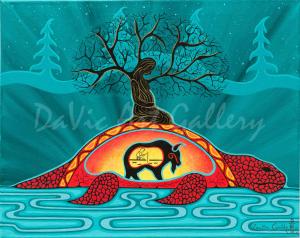 'Into the Night' by First Nations Mi'kmaq artist Loretta Gould