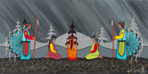 'Pray for Our Future' by First Nations Mi'kmaq artist Loretta Gould