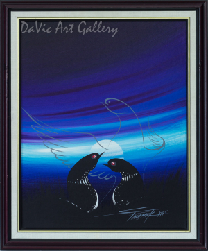 Untitled (Love Protected by Loon Spirit) by Stanley Panamick, Anishinaabe 1995