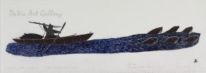'Aparalaq Hunting Walrus' by Josephee Kakee - Inuit - Pangnirtung 1976