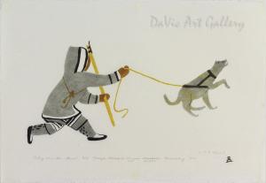 'Testing Thin Ice' by Malaya Akulukjuk - Inuit - Pangnirtung 1976