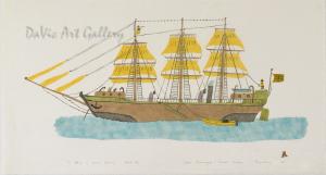 'The Whaler of Simon's Memory' by Simon Shaimaiyuk 1978 - Inuit - Pangnirtung