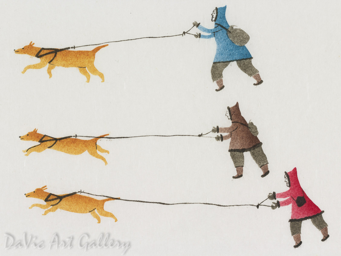 'Seal Hunting' by Tommy Novakeel 1979 - Inuit - Pangnirtung