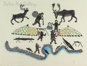 'Summer at Nassuak' by Pauloosie Karpik' - Inuit - Pangnirtung 1989