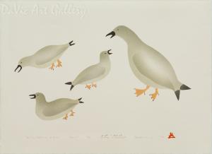 'Family Gathering of Birds' by Enookie Akulukjuk - Inuit - Pangnirtung 1994