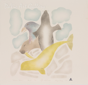'Shamans Helpers' by Gyta Eeseemaillie - Inuit - Pangnirtung 1994