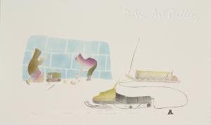 'Tea Break' by Gyta Eeseemaillie - Inuit - Pangnirtung 1994