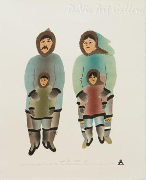 'Family is Important' by Ida Karpik - Inuit - Pangnirtung 1994