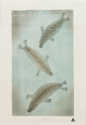 'Seals are Important Source of Food' by Ida Karpik - Inuit - Pangnirtung 1994