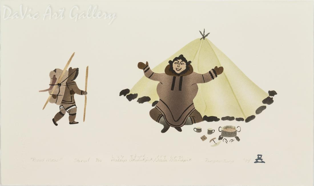 'Proud Mother' by Malaya Akulukjuk - Inuit - Pangnirtung 1994