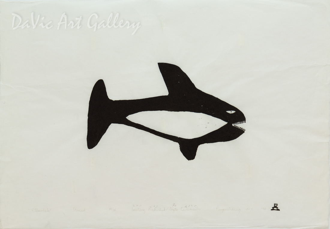 'Killer Whale' by Sowdluq Nakashuk 1994 - Inuit - Pangnirtung