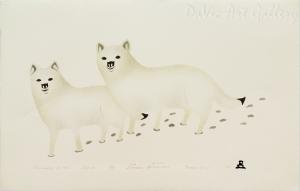 'Focusing on You' by Thomasie Alikatuktuk 1994 - Inuit - Pangnirtung