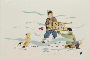 'Coasting' by Joelee Maniapik - Inuit - Pangnirtung 1995