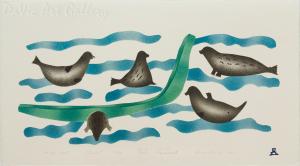 'At the Alert' by Josea Maniapik - Inuit - Pangnirtung 1995