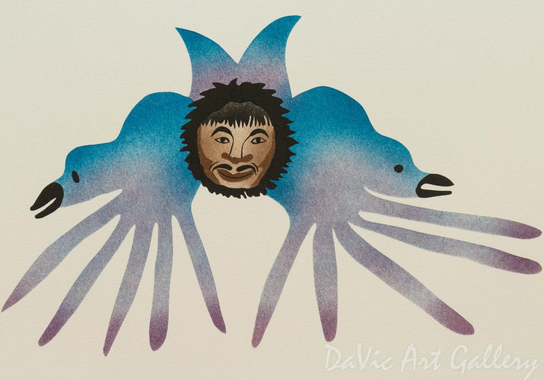 'Companions' by Annie Pitsiulak - Inuit - Pangnirtung 1997