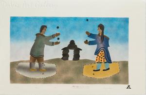 'A Game' by Ida Karpik - Inuit - Pangnirtung 1997