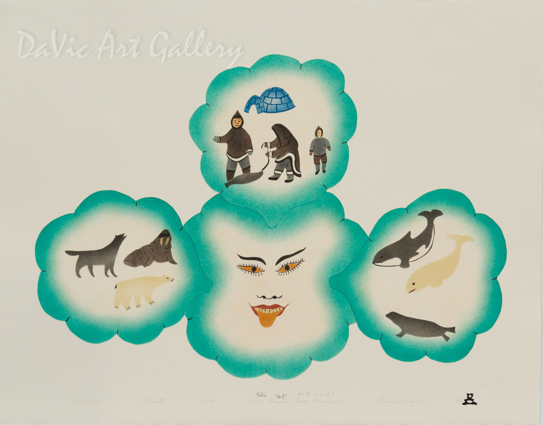 'The Wind' by Ida Karpik - Inuit - Pangnirtung 1997