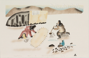 'Camping in the Summer' by Elisapee Ishulutaq, OC - Inuit - Pangnirtung 1998