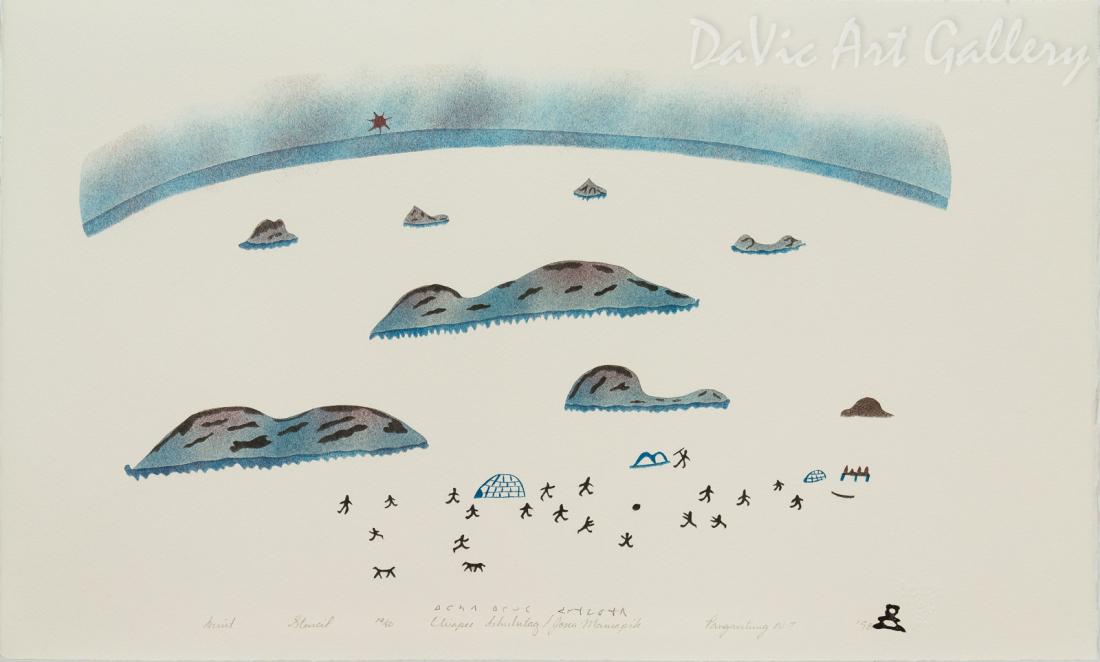 'Inuit' by Elisapee Ishulutaq, OC - Inuit - Pangnirtung 1998