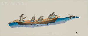 'Inuit Whalers' by Geetaloo Akulukjuk - Inuit - Pangnirtung 1998
