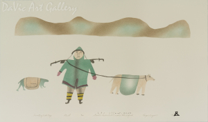 'Traveling with Dogs' by Sowdluq Nakashuk 1998 - Inuit - Pangnirtung