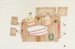 'Woman Making Whale Oil' by Towkie Qarpik - Inuit Art | Native Canadian Arts