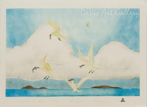 'Arctic Terns' by Andrew Qappik, RCA - Inuit Art - Pangnirtung 1999