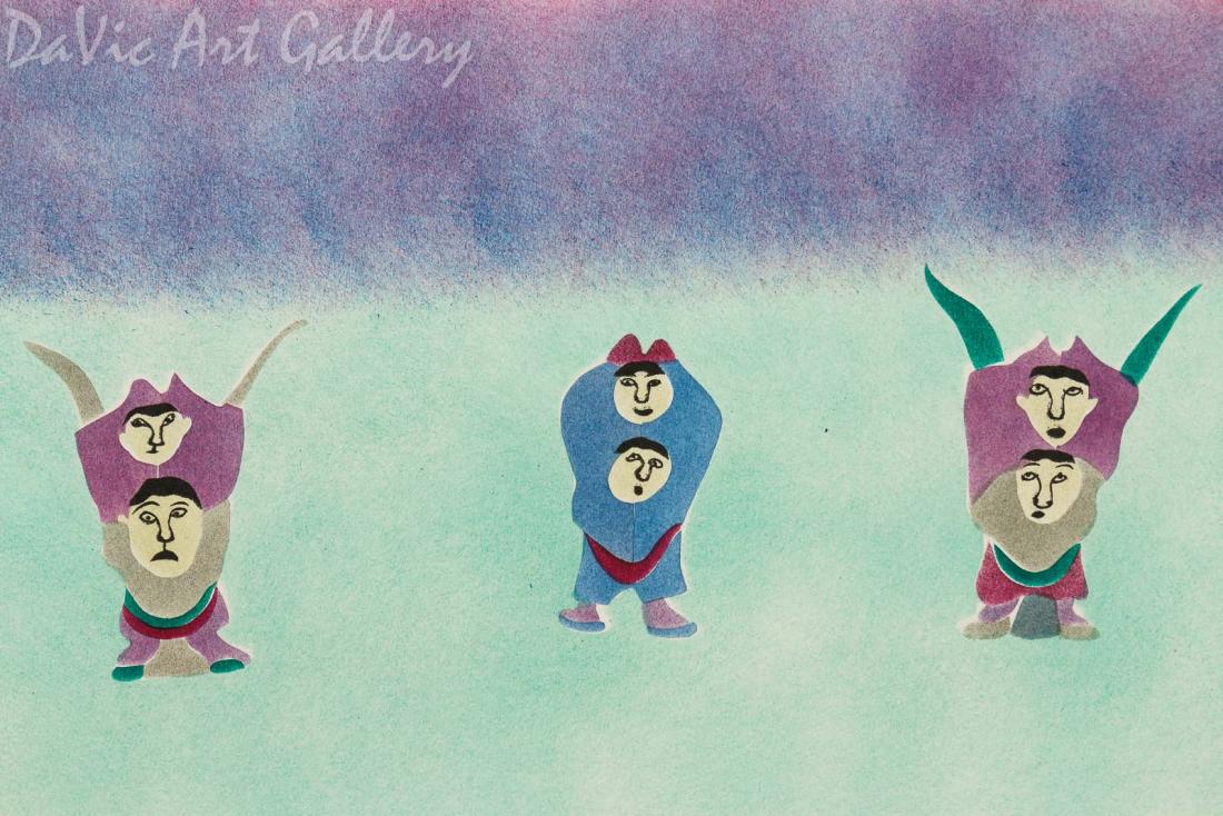 'Evening Games' by Sowdluq Nakashuk 1999 - Inuit - Pangnirtung