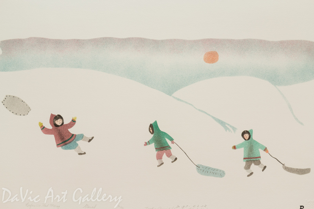 'Before We Had Money' by Towkie Qarpik 1999 - Inuit - Pangnirtung