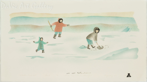 'Our Brother's First Seal' by Towkie Qarpik 1999 - Inuit - Pangnirtung
