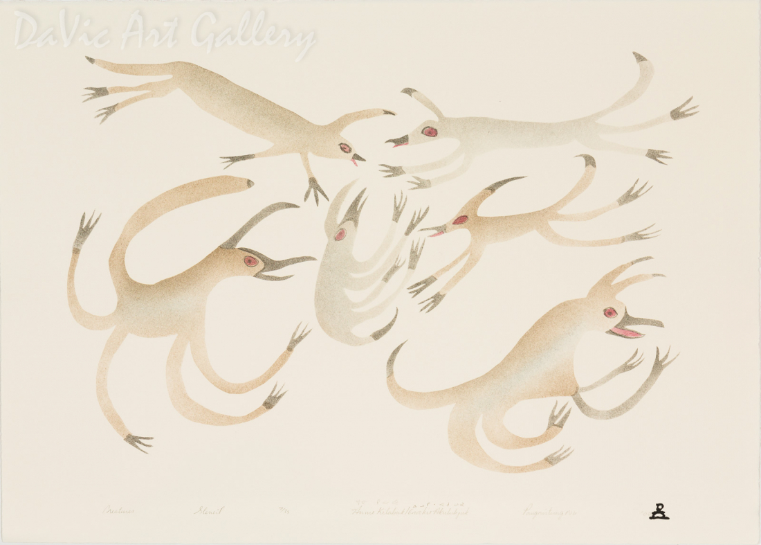 'Creatures' by Annie Kilabuk - Inuit - Pangnirtung 2000
