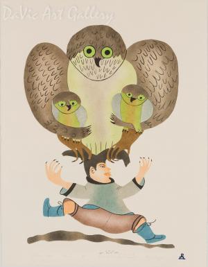 'Protective Okpik' by Annie Kilabuk - Inuit - Pangnirtung 2000