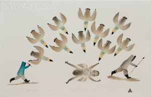 'Different Hunters' by Elisapee Ishulutaq, OC - Inuit - Pangnirtung 2000