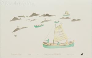 'Navigating the Islands' by Elisapee Ishulutaq, OC - Inuit - Pangnirtung 2000