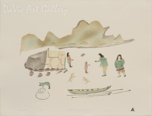 'Spring Camp' by Elisapee Ishulutaq, OC - Inuit - Pangnirtung 2000