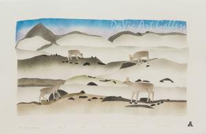 'Land of my Memory' by Simon Shaimaiyuk 2000 - Inuit - Pangnirtung