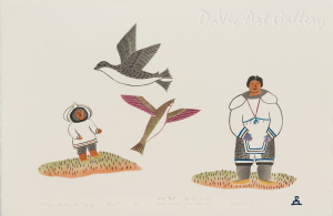 'I Saw the Animals Flying' by Towkie Qarpik 2000 - Inuit - Pangnirtung