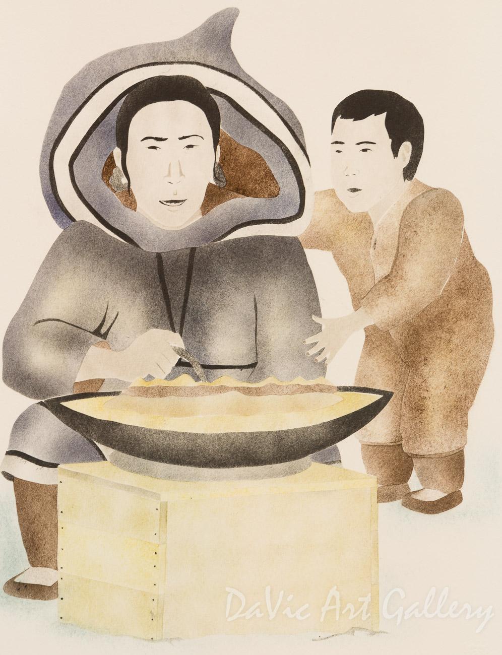 'Light of Mine' by Andrew Qappik, RCA - Inuit Art - Pangnirtung 2001